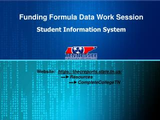 Funding Formula Data Work Session