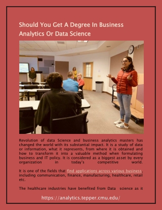 Should You Get A Degree In Business Analytics Or Data Science