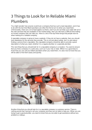 Miami Plumbers   Miami Emergency Plumbers   Miami 24/7 Plumbing - (786) 609-1889