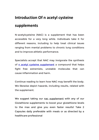 nac supplement