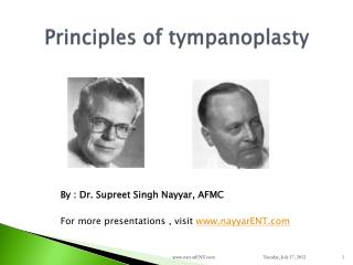 Principles of tympanoplasty