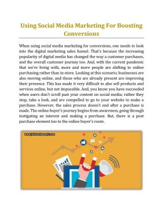 Using Social Media Marketing For Boosting Conversions - Jain Technosoft