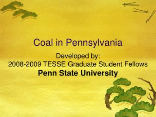 Coal in Pennsylvania