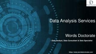 Dissertation Data Analysis Services & Analytics Consulting