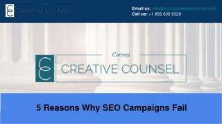 5 Reasons Why SEO Campaigns Fail