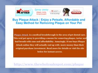 Plaque Attack Oral Dental Spray for Pet Tartar Removal
