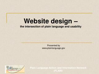 Website design –  the intersection of plain language and usability