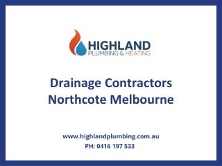 Drainage Contractors Northcote Melbourne | Drainage Solutions