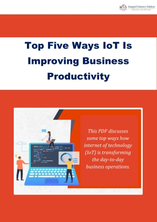 Top Five Ways IoT Is Improving Business Productivity