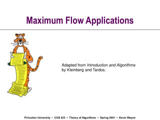 Maximum Flow Applications