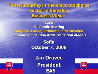 Jan Oravec President EAS