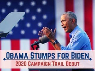 Obama stumps for Biden in 2020 campaign trail debut