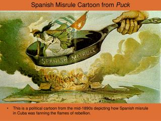 Spanish Misrule Cartoon from  Puck