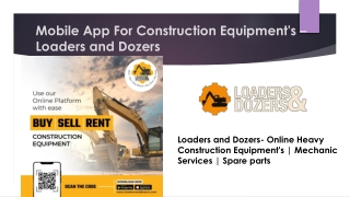 Buy Earthmoving Machineries online