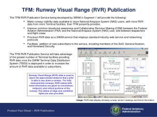 TFM: Runway Visual Range (RVR) Publication