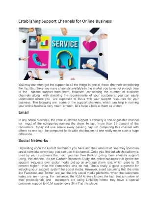 Establishing Support Channels for Online Business
