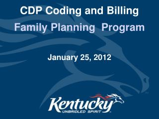 CDP Coding and Billing