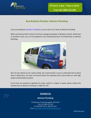 Best Brisbane Plumber: Abstract Plumbing