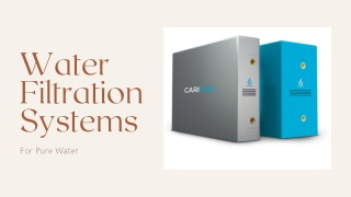 Water Filtration Systems: For Pure Water