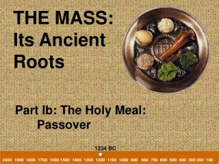 THE MASS: Its Ancient  Roots
