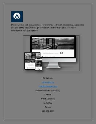 Financial advisor web design | Atlasagency.ca