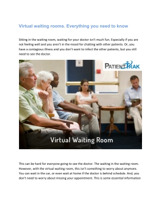 Virtual waiting rooms. Everything you need to know