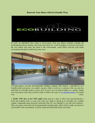 eco friendly home builders   eco friendly homes