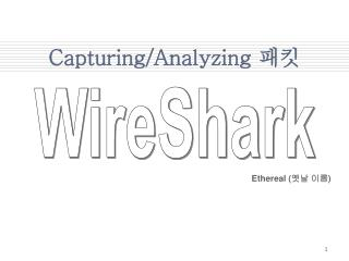 Capturing/Analyzing  패킷