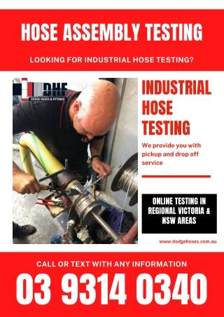Industrial hose testing | Hose Assembly testing