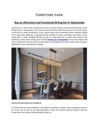 Buy an Attractive and Functional Dining Set in Vijayawada