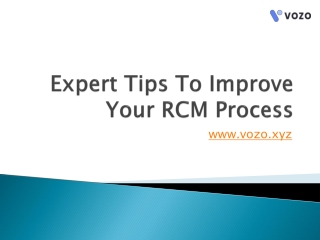 Expert Tips To Improve Your RCM Process
