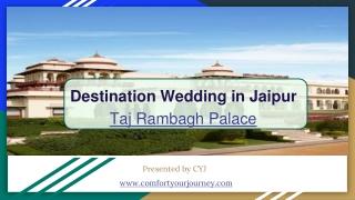 Destination Wedding in Jaipur   Taj Rambagh Palace Jaipur