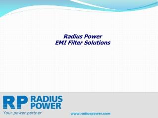 EMI RFI Filter Solutions