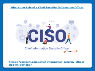 What's the Role of a Chief Security Information Officer