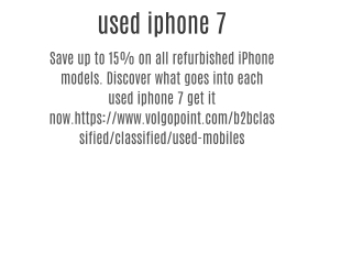 used iphone 7