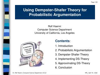 Using Dempster-Shafer Theory for Probabilistic Argumentation