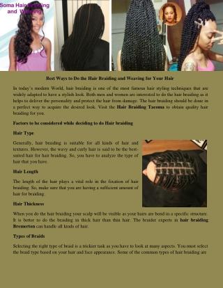 Hair braiding