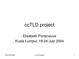 ccTLD project