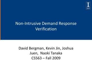Non-Intrusive Demand Response Verification
