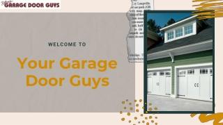 Avail Garage Door Repair Service