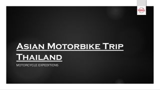 Asian Motorbike Trip Thailand