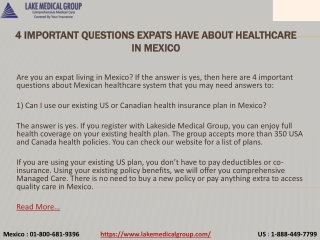 4 Important Questions Expats have about Healthcare in Mexico