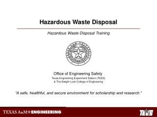 Hazardous Waste Disposal Training