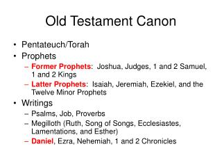 Old Testament Canon