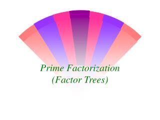 Prime Factorization (Factor Trees)