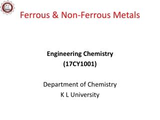 Ferrous & Non-Ferrous Metals