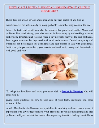 How can I find a dental emergency clinic near me?