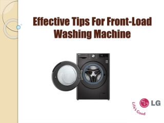 Most Useful Front Load Washing Machine Tips