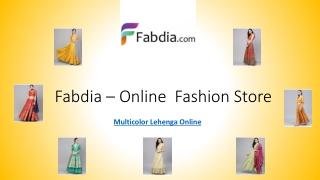 Multicolor Lehenga Online