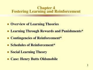 Chapter 4 Fostering Learning and Reinforcement